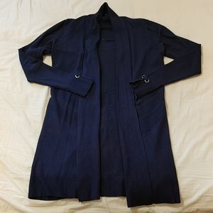 Le Chateau royal blue soft fitted cardigan